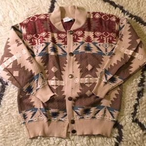Vintage print sweater